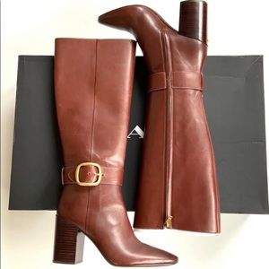 NEW Coach Tall Brown Leather Boots